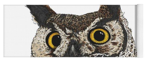 Great Horned Owl Yoga Mat