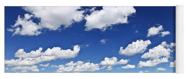 Green Rolling Hills Under Blue Sky Yoga Mat