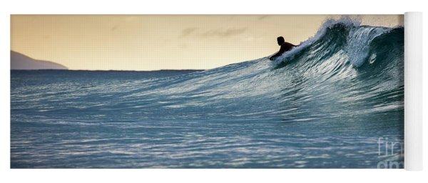 Hawaii Bodysurfing Sunset Polihali Beach Kauai  Yoga Mat