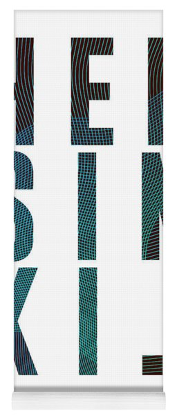 Helsinki, Finland - City Name Typography - Minimalist City Posters Yoga Mat