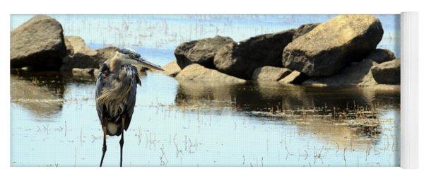 Heron On The Rocks Yoga Mat
