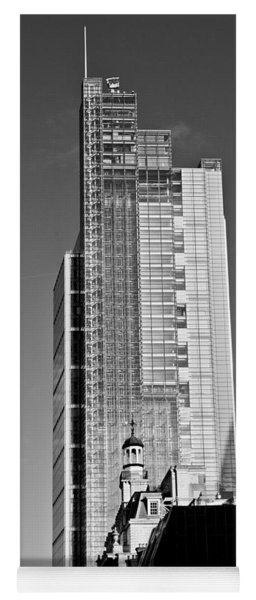 Heron Tower London Black And White Yoga Mat