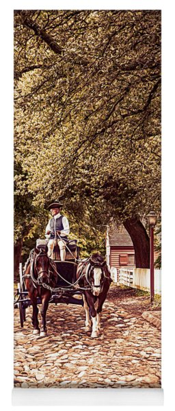 Horse Drawn Wagon Yoga Mat