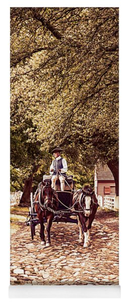 Horse Drawn Wagon Yoga Mat