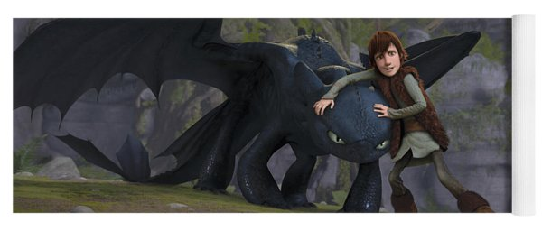 How To Train Your Dragon Yoga Mats Fine Art America