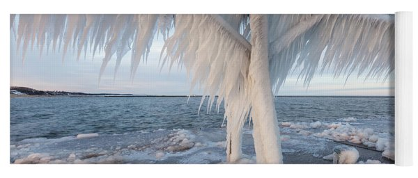Iced Over Yoga Mat