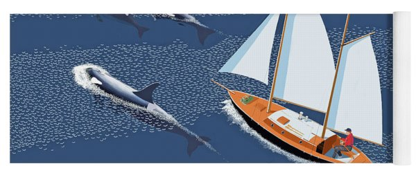 In The Company Of Whales Yoga Mat