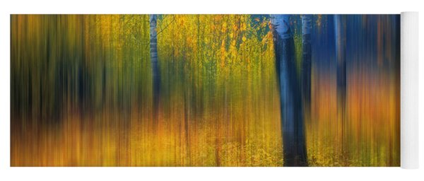 In The Golden Woods. Impressionism Yoga Mat