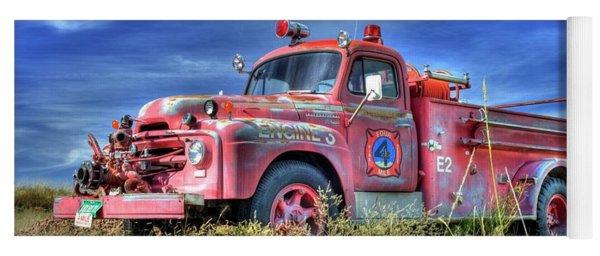 International Fire Truck 2 Yoga Mat