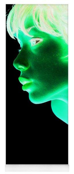 Inverted Realities - Green  Yoga Mat