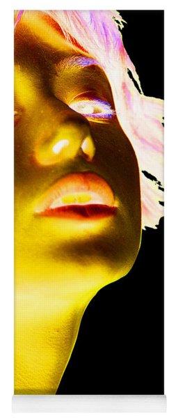 Inverted Realities - Yellow  Yoga Mat