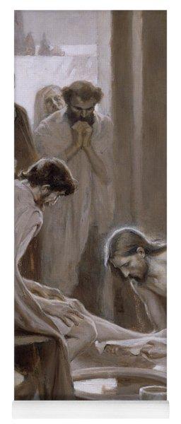 Jesus Washing The Feet Of His Disciples Yoga Mat