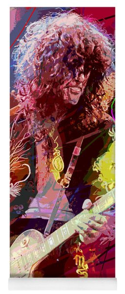 Jimmy Page Les Paul Gibson Yoga Mat