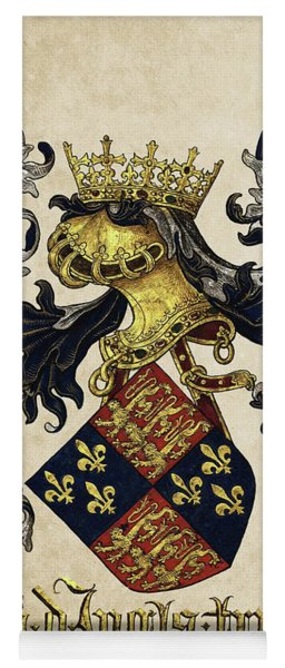 King Of England Coat Of Arms - Livro Do Armeiro-mor Yoga Mat