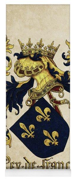 King Of France Coat Of Arms - Livro Do Armeiro-mor  Yoga Mat