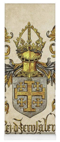 Kingdom Of Jerusalem Coat Of Arms - Livro Do Armeiro-mor Yoga Mat