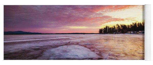 Lake Ice Yoga Mat