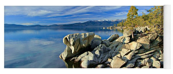Lake Tahoe Rocks Yoga Mat