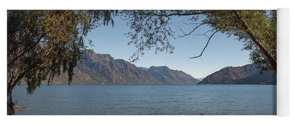 Yoga Mat featuring the photograph Lake Wakatipu Shore Early Morning by Gary Eason