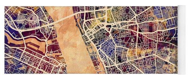 Liverpool England Street Map Yoga Mat
