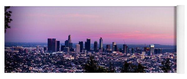 Los Angeles Skyline At Dusk Yoga Mat