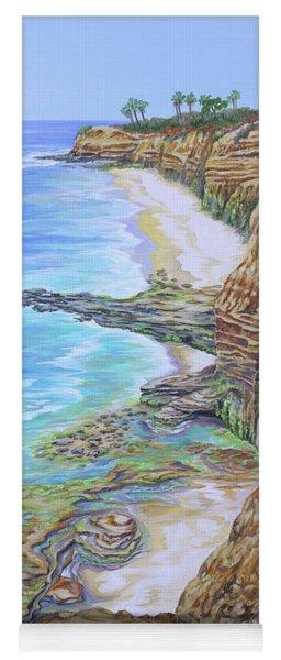 Low Tide Sunset Cliffs Yoga Mat
