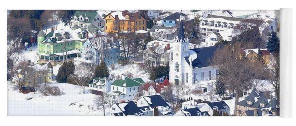 Mackinac Island Winter Yoga Mat