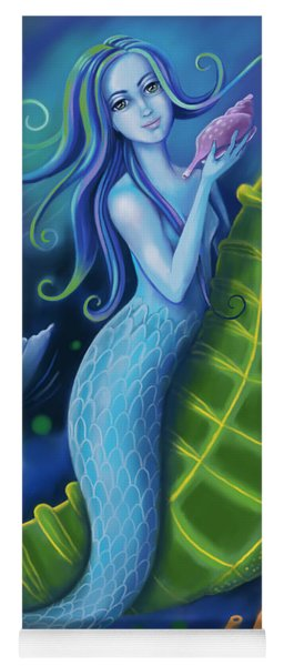 Yoga Mat featuring the digital art Mermaid by Valerie White