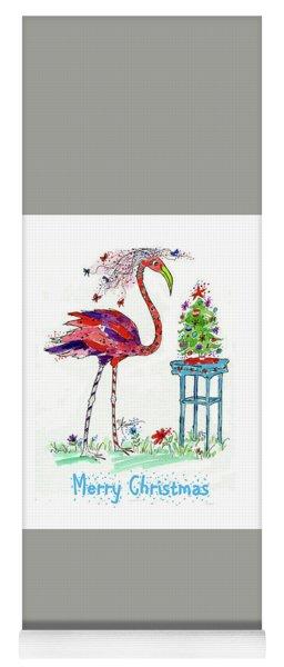 Flossie Flamingo's Christmas Yoga Mat