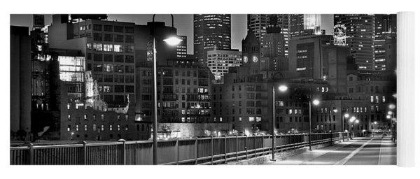 Minneapolis Skyline From Stone Arch Bridge Yoga Mat