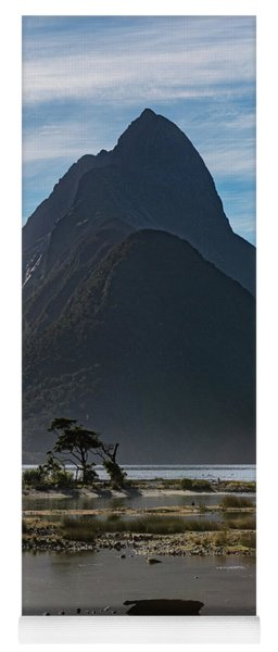 Yoga Mat featuring the photograph Mitre Peak / Rahotu by Gary Eason