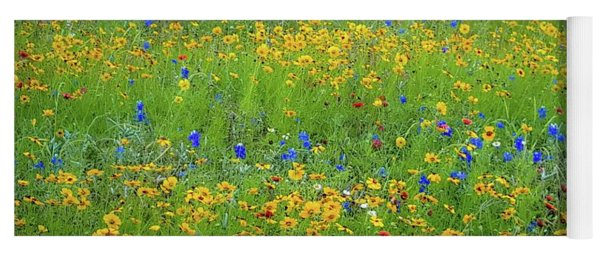 Mixed Wildflowers In Texas 538 Yoga Mat