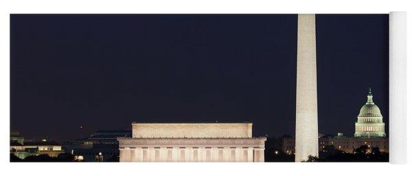 Moon Rising In Washington Dc Yoga Mat