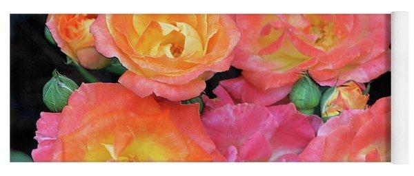 Multi-color Roses Yoga Mat