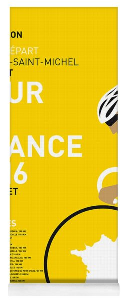 My Tour De France Minimal Poster 2016 Yoga Mat