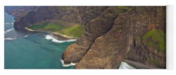 Napali Coastline Aerial Yoga Mat