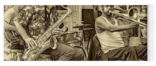 New Orleans Jazz - Sepia Yoga Mat