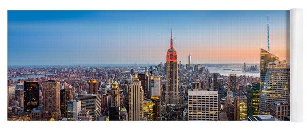 New York Skyline Panorama Yoga Mat