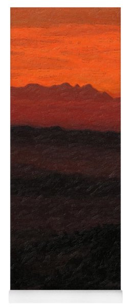 Not Quite Rothko - Blood Red Skies Yoga Mat