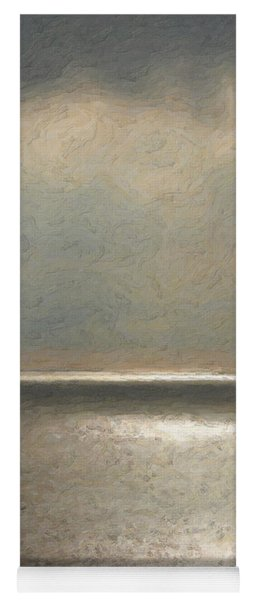 Not Quite Rothko - Twilight Silver Yoga Mat