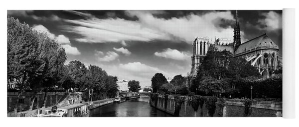 Yoga Mat featuring the photograph Notre Dame Cathedral And The River Seine - Paris by Barry O Carroll