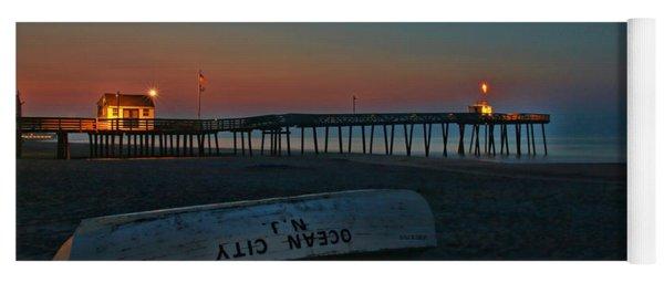 Ocean City  N J Sunrise Yoga Mat