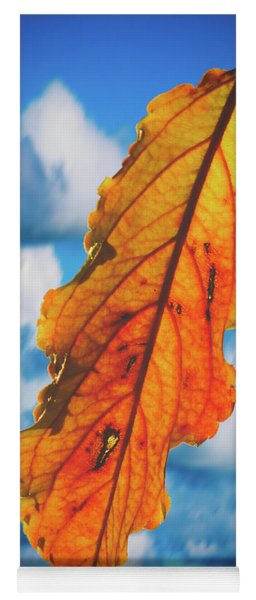 October Leaf B Fine Art Yoga Mat