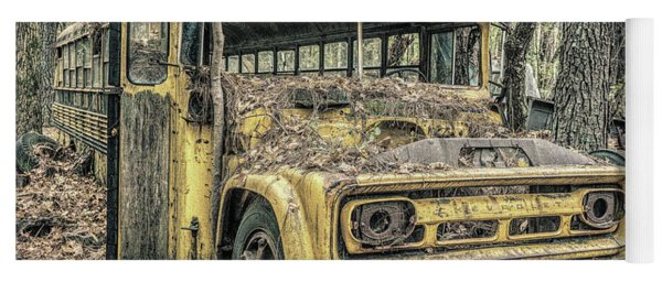 Old School Bus Yoga Mat