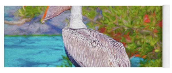 Open Mouthed Pelican Yoga Mat