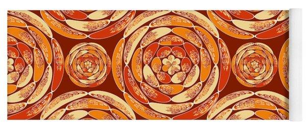 Orange Pattern Yoga Mat
