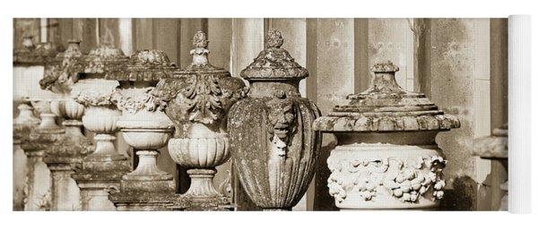 Ornate Garden Urns. Yoga Mat