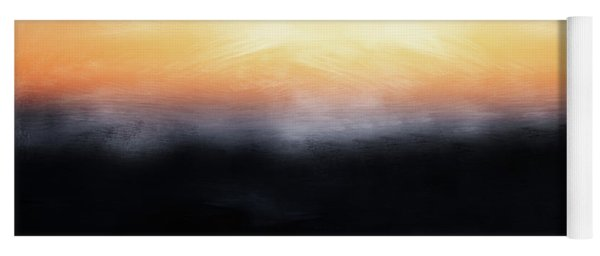 Pacific Sunset- Abstract Art By Linda Woods Yoga Mat