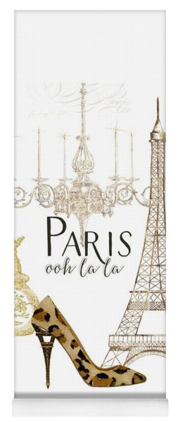 Paris - Ooh La La Fashion Eiffel Tower Chandelier Perfume Bottle Yoga Mat