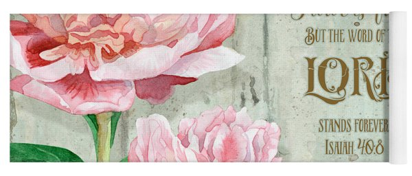 Peony At The Fence Yoga Mat